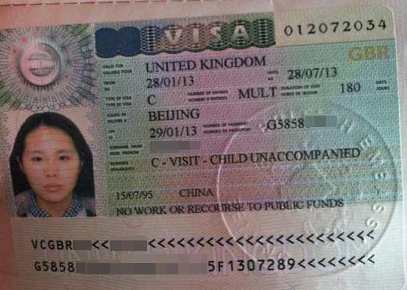 恭喜小古mm获得英国游学访问签证!